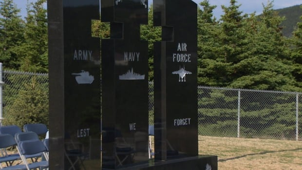 A war memorial inspired by the story of four brothers who died in the Second World War was unveiled Tuesday in Logy Bay-Middle Cove-Outer Cove.