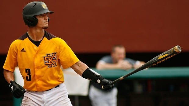 Kennesaw State catcher Max Pentecost led U.S. college Division 1 players this season in hits with 113 and finishing second with a .422 average. He received the Johnny Bench Award, given to the top division one catcher, and recently was selected 11th overall by the Toronto Blue Jays in the MLB amateur draft.