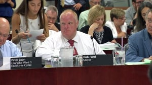 Mayor Rob Ford at city hall on July 2, 2014