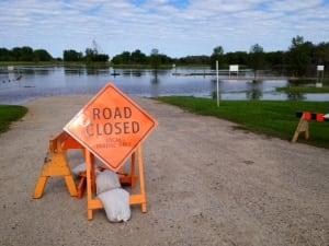 Dinsdale Park under water