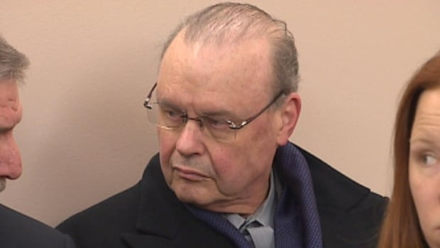 Ed Drover is pictured at provincial court in St. John's on Feb. 14, 2014, when he pleaded guilty to dangerous driving. He now wants to appeal that conviction.