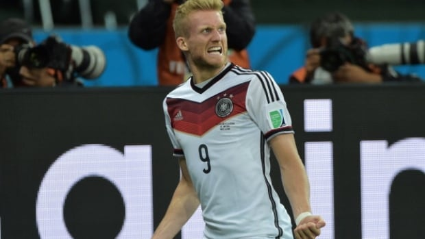 German André Schürrle's back-heel touch goal against Algeria was an instant highlight reel classic.