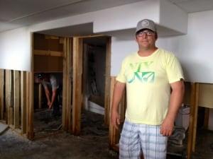 John Ross in flooded Virden home