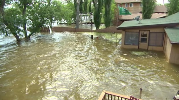 Cabins at crooked Lake are already flooded and experts predict the water level has not even reached its peak.