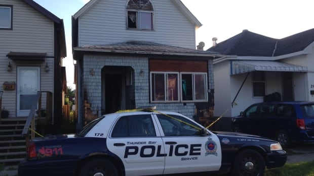 Thunder Bay Police are investigating a fire at 211 Cumming Street on Thunder Bay's south side.