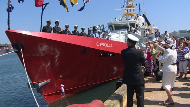 A new Coast Guard ship was dedicated to Chief Officer Gregory Paul Peddle.