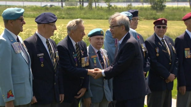 Veterans of the Korean War were greeted by the South Korean ambassador to Canada on Thursday to show appreciation for their effort in the conflict.