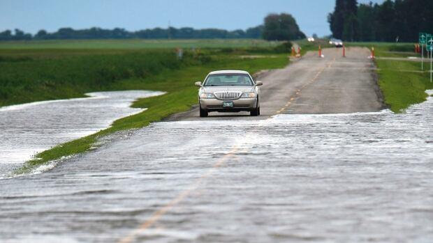 Brandon flooded roads