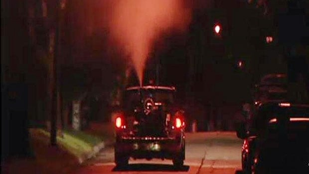 Mosquito-fogging trucks will roll down Winnipeg streets Thursday night, for the first time this year.
