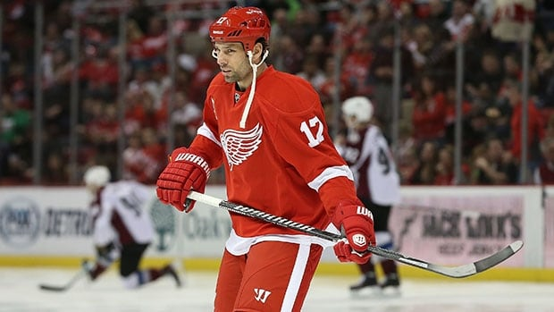 David Legwand finished last season with Detroit after spending his 14-plus seasons with Nashville.