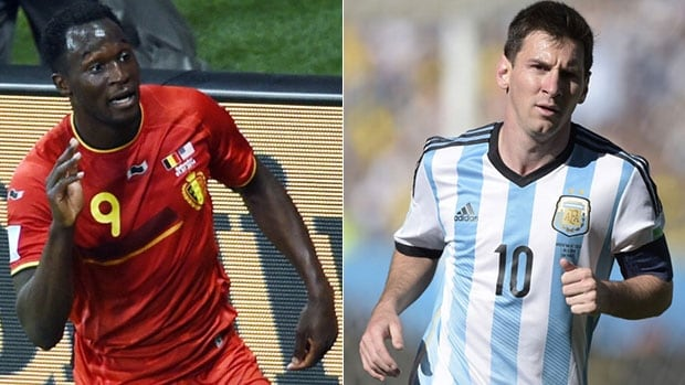 Expect Belgium's Romelu Lukaku, left, and Argentina star striker Lionel Messi to play key roles for their respective teams during Saturday's quarter-final.