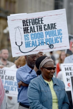 Refugee Health Care Protest 20140616