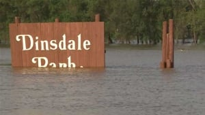 Dinsdale Park flooded - July 3, 2014