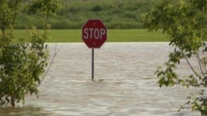 Brandon stop sign flood - July 3, 2014
