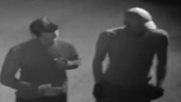 Police have released images of two suspects after a breka-in at a Flaborough farm supply store.