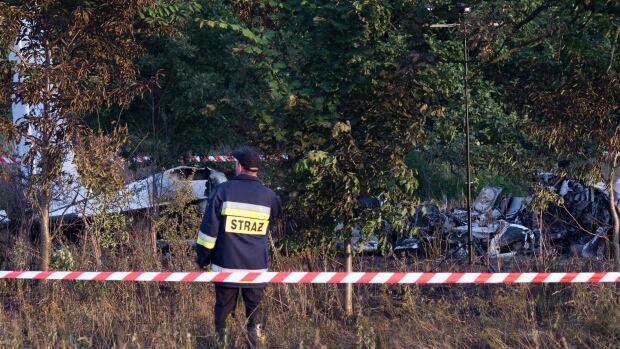 The lone survivor of a fiery plane crash Saturday that killed 11 people in Topolow, Poland, was rushed to the hospital.