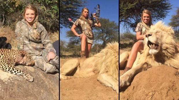 Animal lovers and critics of big-game hunting have taken aim at Kendall Jones, 19, a Texas Tech cheerleader and student who posted photos of herself with animals she felled in South Africa, including a cougar, lion and white rhino.