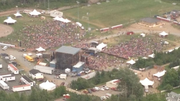 A shot of the crowd at the 2014 Slamon Festival in Grand Falls-Windsor in the afternoon. There weren't as many people at the show as last year, but attendees seemed to enjoy the concert.