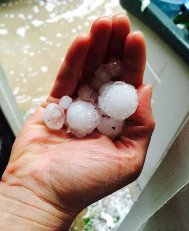 Hail at Crooked Lake