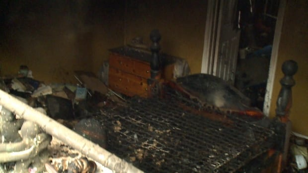 A bedroom in a St. John's home was torched in a weekend fire now under police investigation.