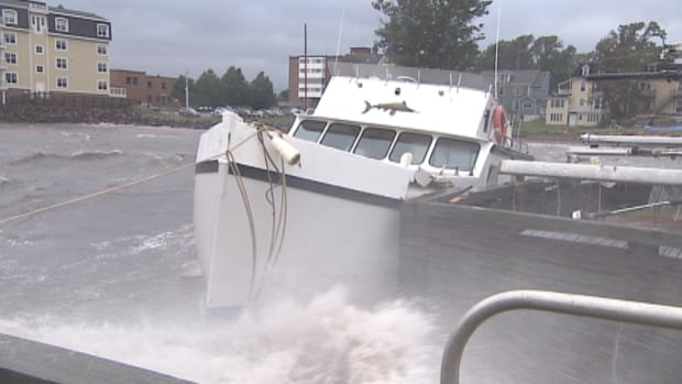 Post-tropical storm Arthur churned the waves off Prince Edward Island.