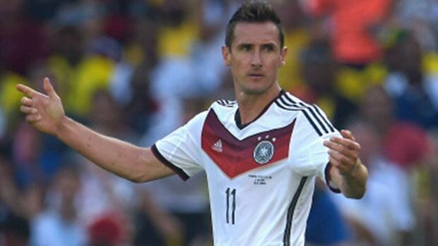 Can Miroslav Klose become the all-time World Cup goals leader when Germany takes on Brazil Tuesday?