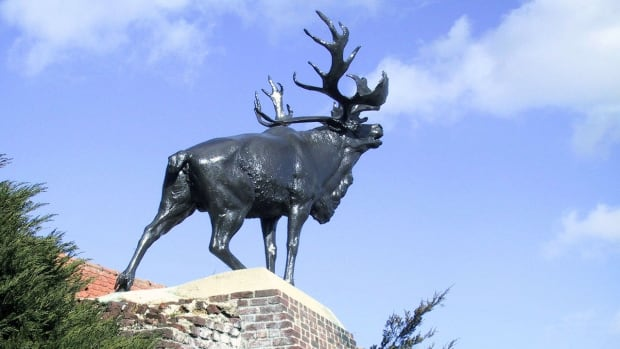 A caribou memorial stands in Monchy-le-Preux, France to honour the Newfoundland soldiers who fought in the First World War.