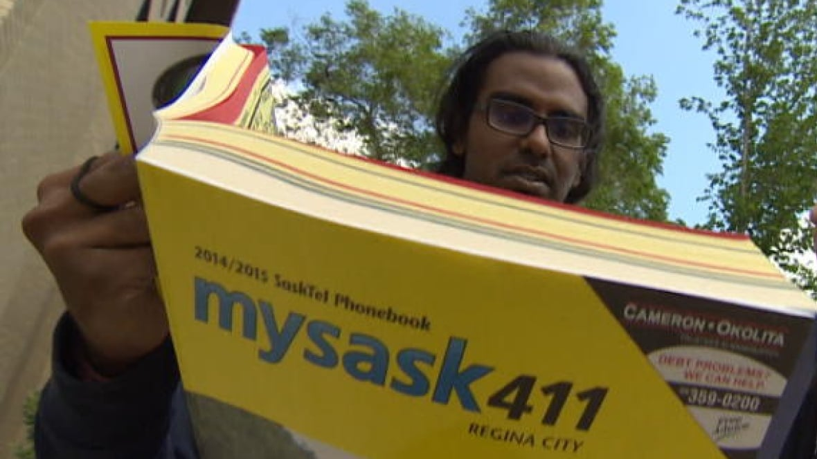 what are you doing with a printed phone book saskatchewan cbc