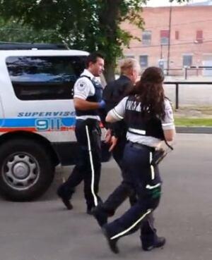Suspect taken to ambulance in Regina