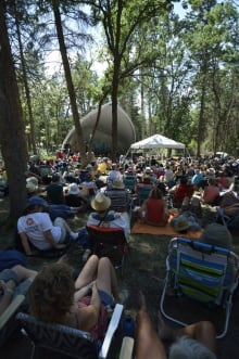 Stage in the forest, Winnipeg Folk Festival