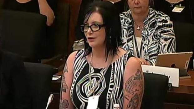 Katarina MacLeod spoke to MPs about her experience surviving domestic human trafficking and Bill C-36, the government's proposed changes to prostitution laws.