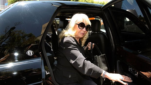 Shelly Sterling, the wife of Clippers owner Donald Sterling, arrives at court for a probate hearing in Los Angeles on Tuesday.