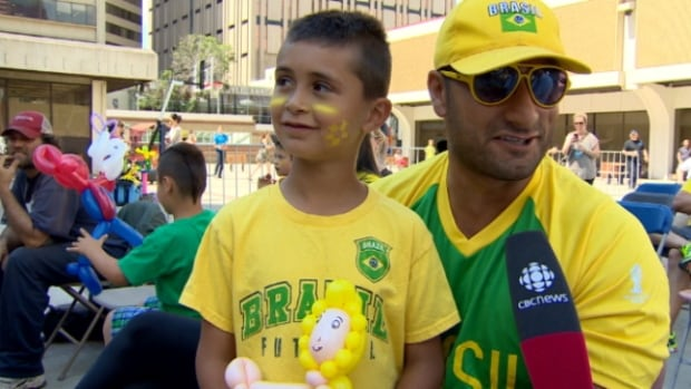 Ahmad Majad was one of about 100 fans who came downtown watch the semi-final between Brazil and Germany on Tuesday.
