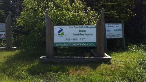 Someone stole the signs leading to the Burin Peninsula Waste Management Corp. facility this weekend.