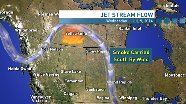 Smoke from N.W.T. fires