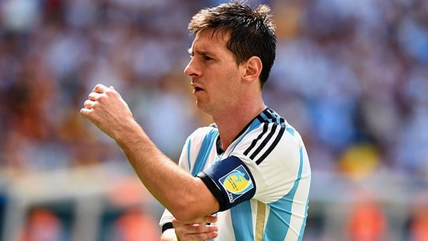 Argentina's Lionel Messi is one of 10 players named by FIFA as a finalist for the World Cup's best player. Messi's teammates Angel Di Maria and Javier Mascherano are also candidates.
