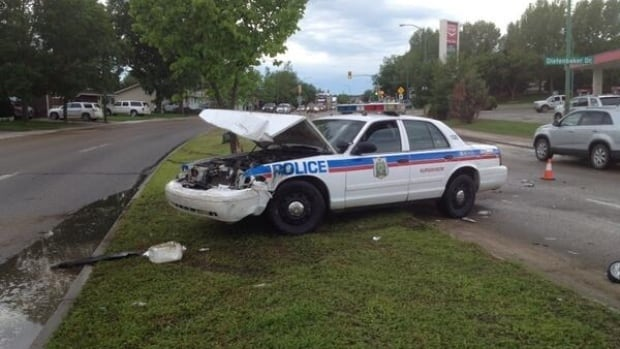 The aftermath of an hour-long chase in June of 2014.