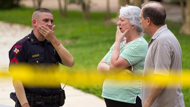 Neighbours were shocked to discover six people had been shot dead in a suburban home in Spring, Texas on Wedneday night.