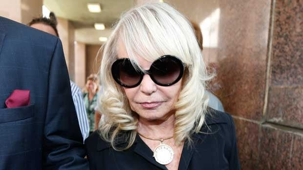 Shelly Sterling is seen arriving for Wednesday's court session in Los Angeles.