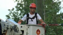 Line worker in New Brunswick