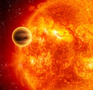 Water, water everywhere - on an extrasolar planet