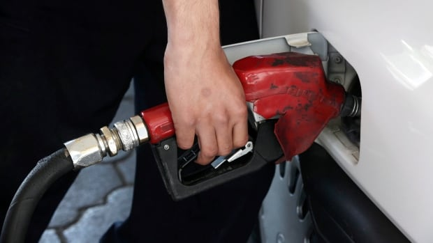 The price of gasoline is edging downward, more because of strong supply in the U.S. than because of the falling world oil prices.