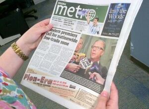 Metro newspaper skpic