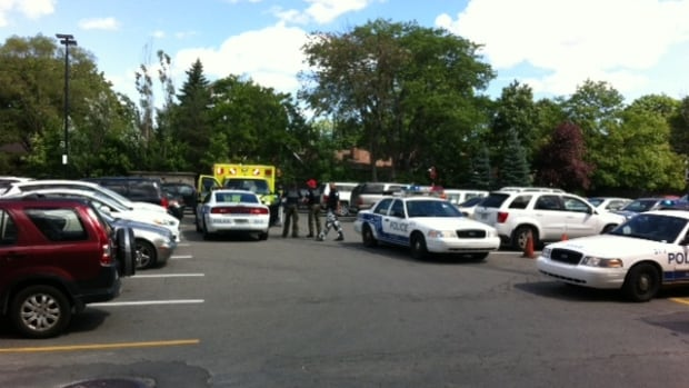 Witnesses called 911 after seeing a baby in distress in a car in the parking lot of Rockland shopping centre.
