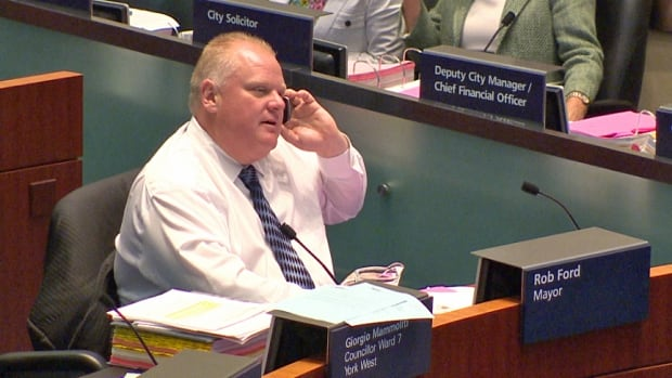 Rob Ford cast the lone vote against a report on space in a shelter for LGBT youth.