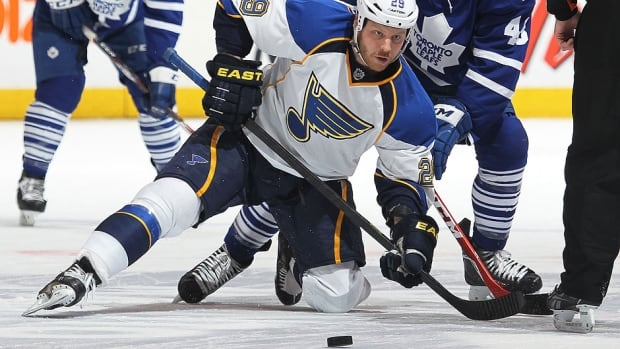 Forward Steve Ott had three assists and 37 penalty minutes in 23 regular-season games for the Blues following a March 1 trade from Buffalo.