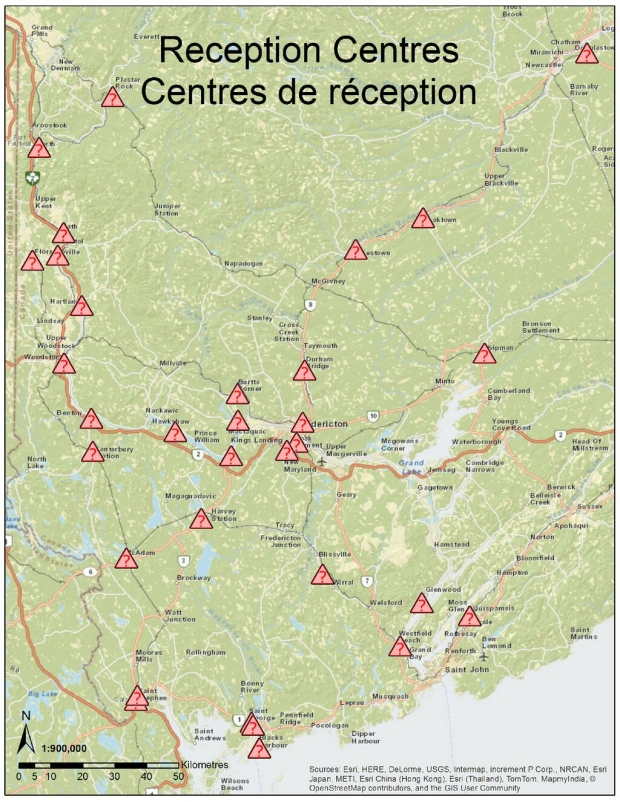NB-EMO centres map