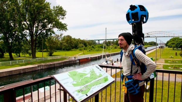 Parks Canada is continuing its work with Google Canada on the Google Street View project featuring outdoor tourism hotspots. Over the past few weeks, the Google Team was image-collecting at Pukaskwa National Park, Sault Ste. Marie Canal (pictured) and Fort St. Joseph National Historic Sites, as well as Lake Superior National Marine Conservation Area. Photographer Philippe Lapointe carries the backpack camera while capturing images as he walks.