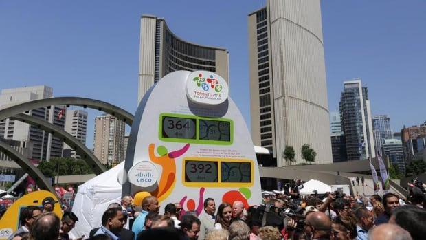 A countdown clock was revealed in Nathan Phillips Square. It can take photos of visitors and email it to them.