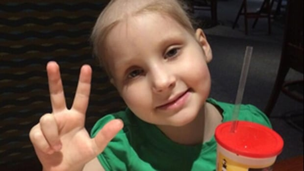 Anya Martinez, 6, of Ancaster, Ont., needs funds to get to Philadelphia hospital for a clinical trial as soon as possible, but tonight she is happy to be able to attend a gala fundraiser in her honour.